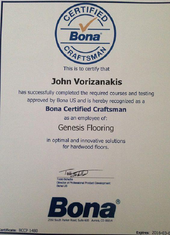 planchers-genesis-flooring-bona-certificate
